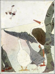 Mary Hamilton Frye  1890 ~ 1957  The Wonderful Adventures of Nils  by Selma Lagerlof  Published by Doubleday, Page & Co ~ 1913