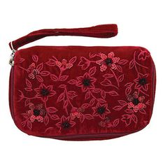 Our divine structured make-up purse is perfect for ensuring your precious cosmetics are safely yet stylishly transported. Red Velvet, Sequins, Make Up, Cosmetics, Purses, Bags, Accessories, Fashion, Handbags