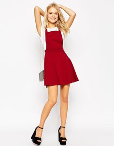 Image 4 of ASOS Pinafore Dress