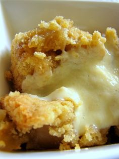 Apple Crumble with Vanilla Custard Sauce.  Quick!  Before apple season is over for the year.