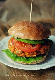 Moje Dietetyczne Fanaberie: Wegetariańskie burgery z ciecierzycy i batatów