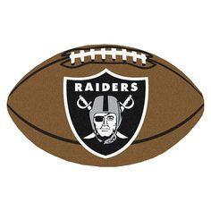 NFL - Oakland Raiders Football Rug Size: Protect your floor in style and show off your fandom with Football Mats from Sports Licensing S Raiders Team, Raiders Stuff, Oakland Raiders Football, Nfl Football, Pittsburgh Steelers, Raiders Gifts, Football Crafts, Dallas Cowboys, Raider Game