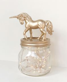 A personal favourite from my Etsy shop https://www.etsy.com/uk/listing/498705788/unicorn-mason-jar-nightlight-gold-copper