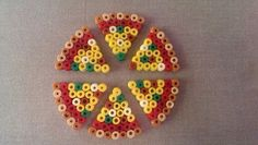 Melty beads pizza