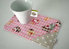 mug rug :) Pocket for teabag or spoon picture only