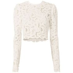 A fashion look from December 2016 featuring white lace top, distressed skinny jeans and metallic shoes. Browse and shop related looks. Cropped Tops, Cropped White Shirt, White Lace Crop Top, Lace Crop Tops, White White, White Lace Shirts, Crop Shirt, Lehenga, Leila