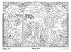 Stained Glass Window Doodle Art Coloring Poster Photo by doodleartposters | Photobucket
