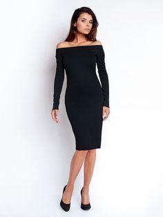 Дамска рокля с дълъг ръкав  NOMMO  - черен
