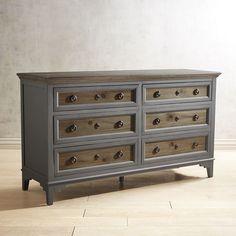 Weston Weathered Oak 6-Drawer Dresser | Pier 1 Imports