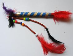 Native American talking Stick. (would be great to use during family meetings)