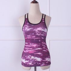 5d3648421627e Women s Yoga Fitness Gym Running Sleeveless Printed Top Tank NEW. Sports  VestWorkout ...