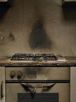 A house fire creates smoke damage throughout the home.