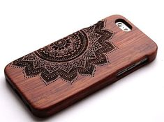 Flower Phone CaseWood iPhone 6 CaseiPhone 5 5S Wooden by xinye05