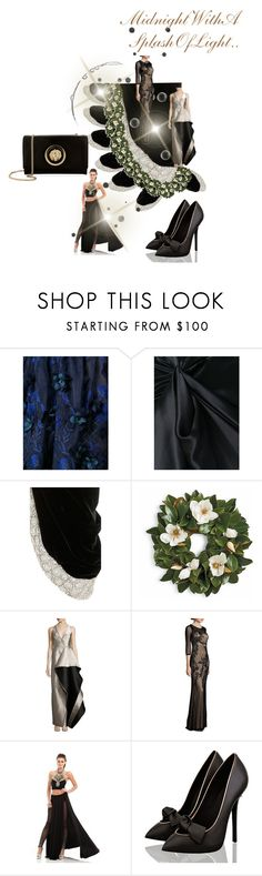 """""""Midnight!"""" by sinmrn ❤ liked on Polyvore featuring Notte by Marchesa, Redemption, Oscar de la Renta, Frontgate, Halston Heritage, BASIX BLACK LABEL, Johnathan Kayne and Versus"""