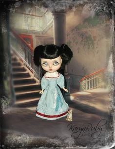 Blythe  1900s Victorian Seaside  2 Piece Costume By by KarynRuby