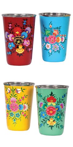 Floral tumblers // love these!