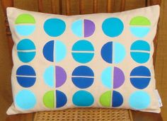 Items similar to Clearance-Geometric Half Circle Medly Applique Pillow x 16 on Etsy Applique Pillows, Throw Pillows, Reverse Applique, Half Circle, Pillow Covers, Pillow Ideas, Crafty, Unique Jewelry, Handmade Gifts