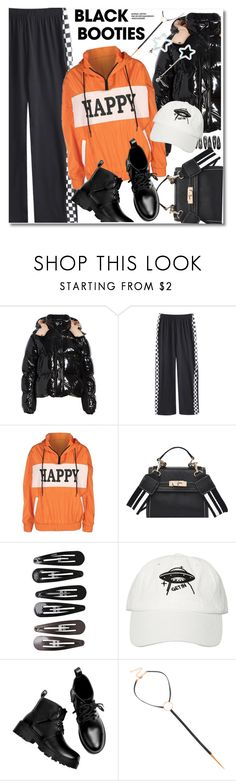 """Back to Basics: Black Booties"" by paculi ❤ liked on Polyvore featuring Moncler, Clips and blackbooties"