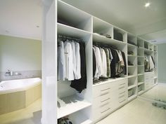 I would really love to have something like this in my house. Sometimes I feel like I have to many clothes and not enough space to put them. If I had an area like this, maybe my clothes would be able to stay organized.