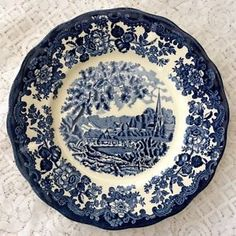 "Royal Worcester Palissy China Avon Scenes 10"" Dinner Plate  