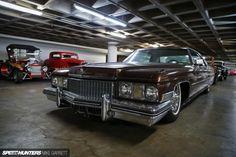 Cool Cadillac 71-73 Coupe DeVille lowrider - Petersen Automotive Museum Vault collection via Speedhunters.com