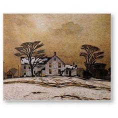 Casson, March Morning, Canadian Group of Seven Emily Carr, Group Of Seven Art, Group Of Seven Paintings, Contemporary Landscape, Landscape Art, Landscape Paintings, Winter Landscape, Landscapes, Canadian Painters