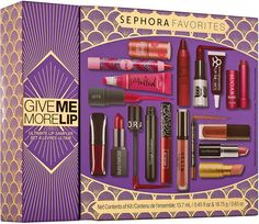 Sephora Favourites Give Me More Lip Kit 17 Items Benefit Hourglass Tarte Too Faced Stila Holiday 201 Sephora, Brand Review, Everlasting Liquid Lipstick, Obsessive Compulsive Cosmetics, Bite Beauty, Beauty Care, Beauty Tips, Long Wear Lipstick, Flawless Makeup