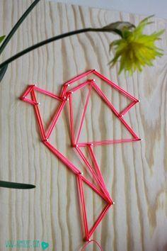 Origami met nagels en draad - When origami meets string art
