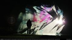 advection | robert seidel | projection on a water fountain | lichtsicht biennale 2013/2014