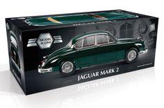 Model-Icons packaging for green Jaguar Mark 2