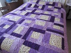 Crafty Sewing & Quilting: The Easy to Sew Quilt Pattern Used to Make Twin Quilts
