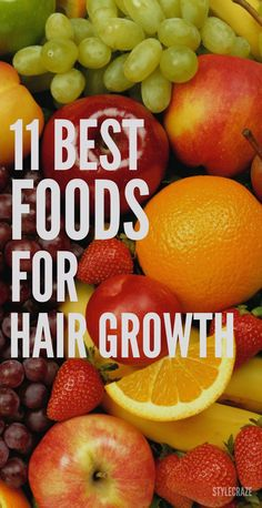 Healthy inside make us beautiful outside! The right food for hair growth is one of the most amazing hair growth tips ever.