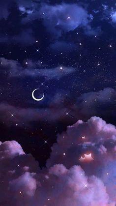 Purple Galaxy Wallpaper, Galaxy Wallpaper Iphone, Night Sky Wallpaper, Butterfly Wallpaper Iphone, Wallpaper Space, Iphone Wallpaper Tumblr Aesthetic, Aesthetic Pastel Wallpaper, Scenery Wallpaper, Kawaii Wallpaper