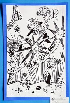 Garden line drawing (2nd grade)