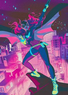 Batgirl. I have this poster and Babs Tarr signed it!!! It's amazing! And I just has to put it on my board