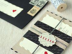 love letter inspired wedding invites; so cute!