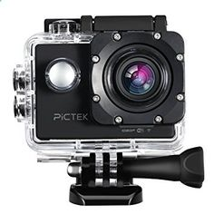 Action Camera, [Upgraded Version]Pictek Underwater Camera, Sports Camera, 12MP Full HD 1080p Cameras Outdoors Sport WiFi Action Camera with 170 Degree Wide-angle Lens and 2-inch HD LCD Display for Diving,Motor-cycling,SwimmingSkiing,Car Racing,Paragliding,Bungee Jump,Surfing,Mountain-biking,etc.