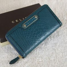 Celine Long D.Blue Wallet