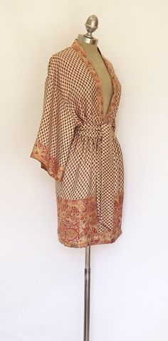 900e9252073 Pure Silk Kimono Dress   Beach cover up by Bibiluxe on Etsy