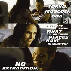 ❤️⭐️PW_120973_Indonesia 🇲🇨⭐️❤️ (@iin_280415) Movie Fast And Furious, Furious Movie, The Furious, Fast Quotes, Real Life Quotes, Tv Quotes, Fast Five, Rip Paul Walker, Vin Diesel