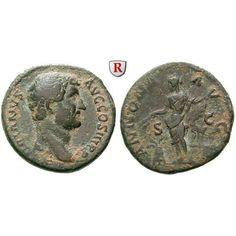 Römische Kaiserzeit, Hadrianus, As 134-138, ss: Hadrianus 117-138. Kupfer-As 26 mm 134-138 Rom. Büste r., Drapierung auf l. Schulter… #coins