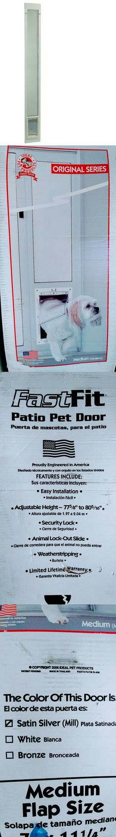 fast fit pet patio door cat flap white frame 77 5 8 to 80 3 8