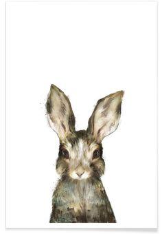 Little Rabbit en Affiche premium par Amy Hamilton | JUNIQE