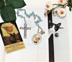 Unbreakable Catholic Chaplet of Blessed Julian of Norwich - Patron of Cats by foodforthesoul on Etsy