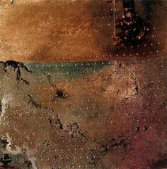 Paisaje con moscas - Salvador Dalí - 1965. Óleo sobre metal dorado. 35.5 x 35.5 cm. Anteriormente Colección Gala y Salvador Dalí.