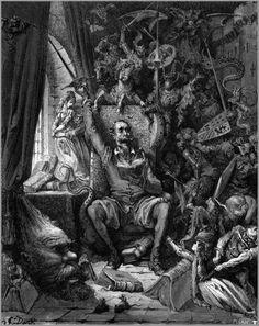Gustave Dore Don Quixote in His Library