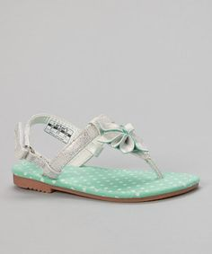Look what I found on #zulily! Carter's Silver Cindy Sandal by Carter's #zulilyfinds