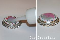 FINALLY found a site that tells you how to make your own bottle cap art. Yay!
