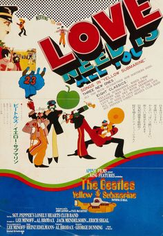 psychedelic-sixties:  Yellow Submarine  Japanese Poster 1968