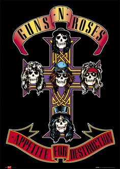 ☯☮ॐ American Hippie Music ~ Guns N Roses - Appetite For Destruction * Poster *